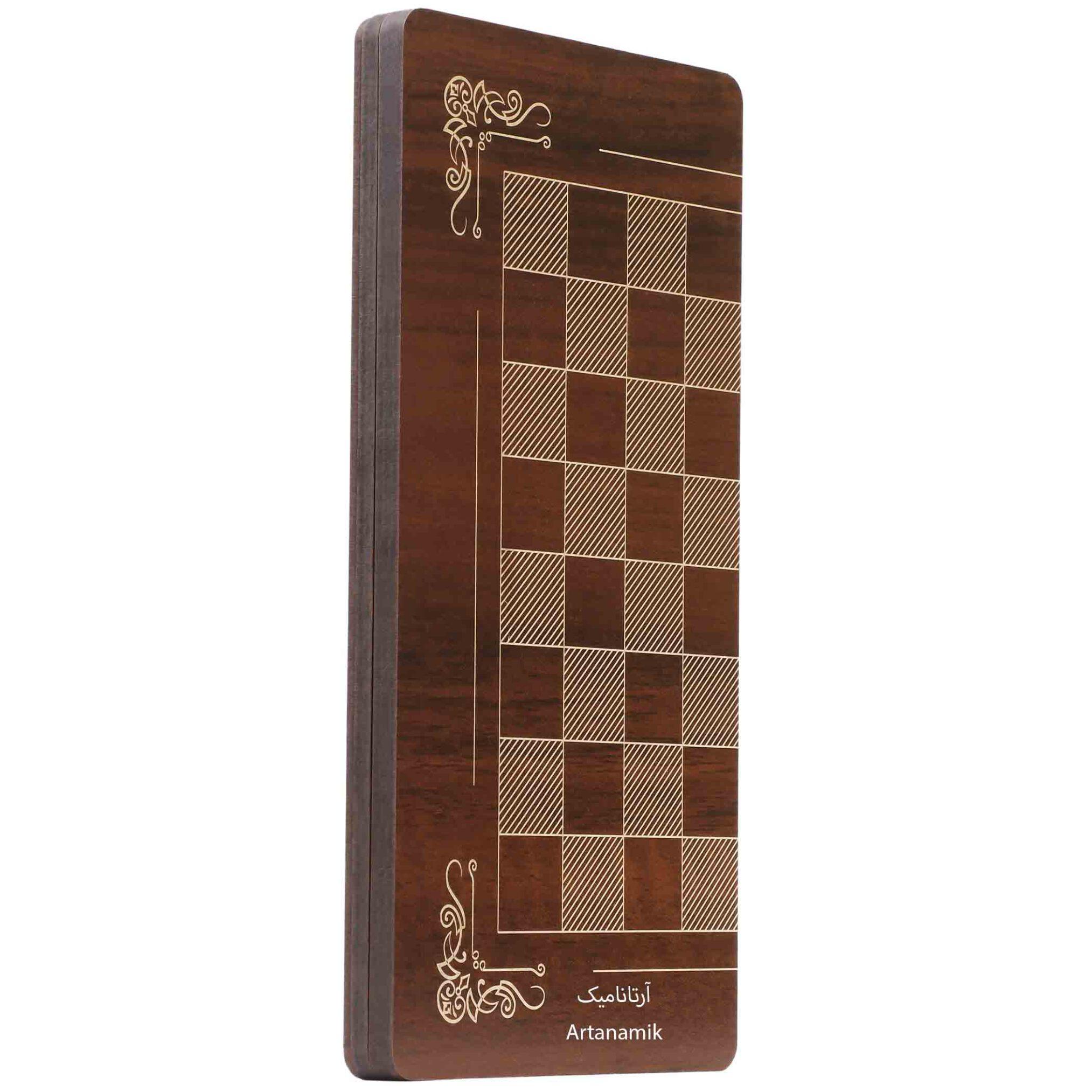شطرنج مسافرتی کادویی طرح سر ستون هخامنشی همراه با کیف