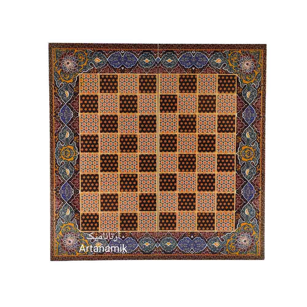 تخته نرد و شطرنج طرح خاتم، تخته نرد کادویی و تخته نرد نفیس از جنس چوب روس