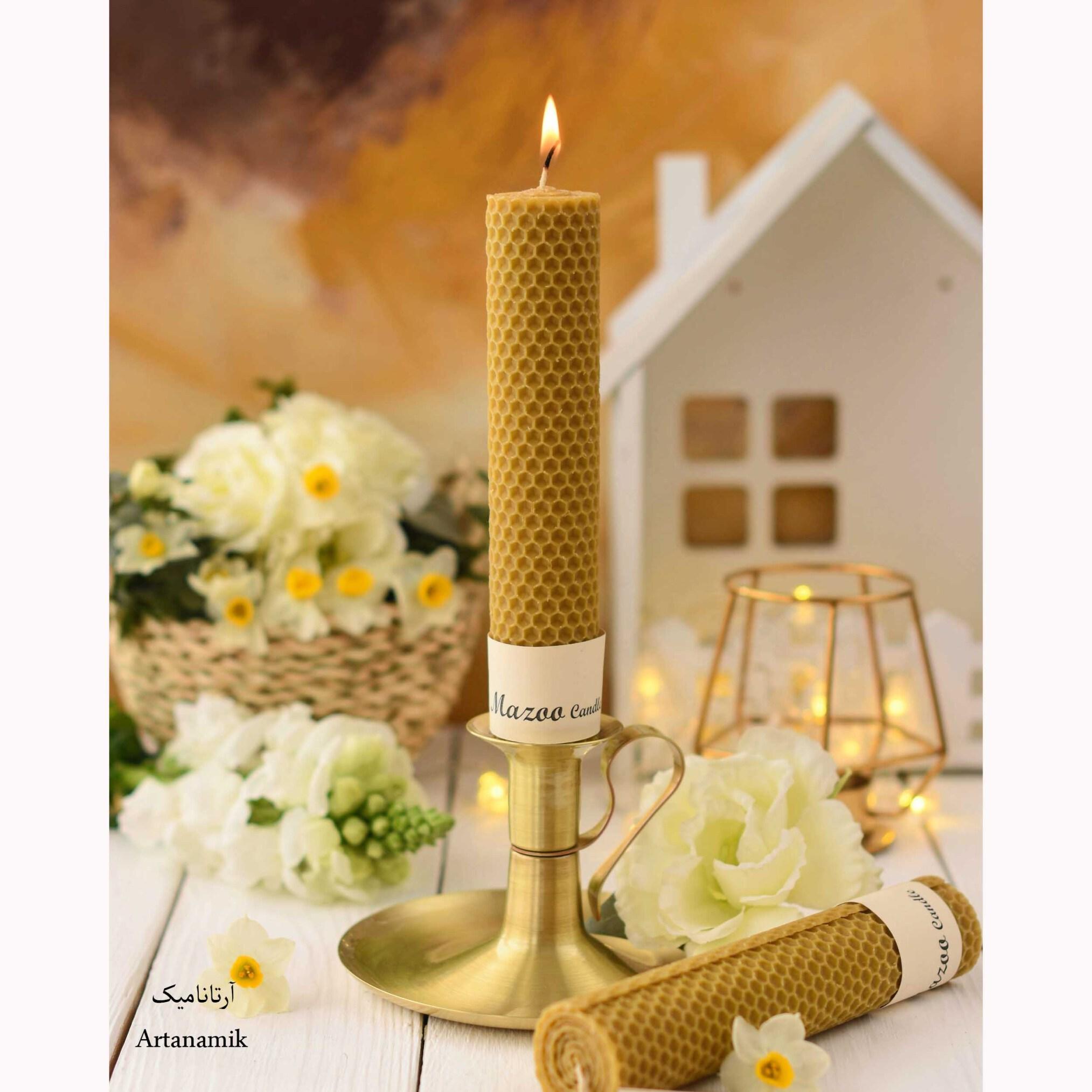 خرید شمع موم عسل، شمع با کیفیت، شمع دکوری، شمع مینیمال