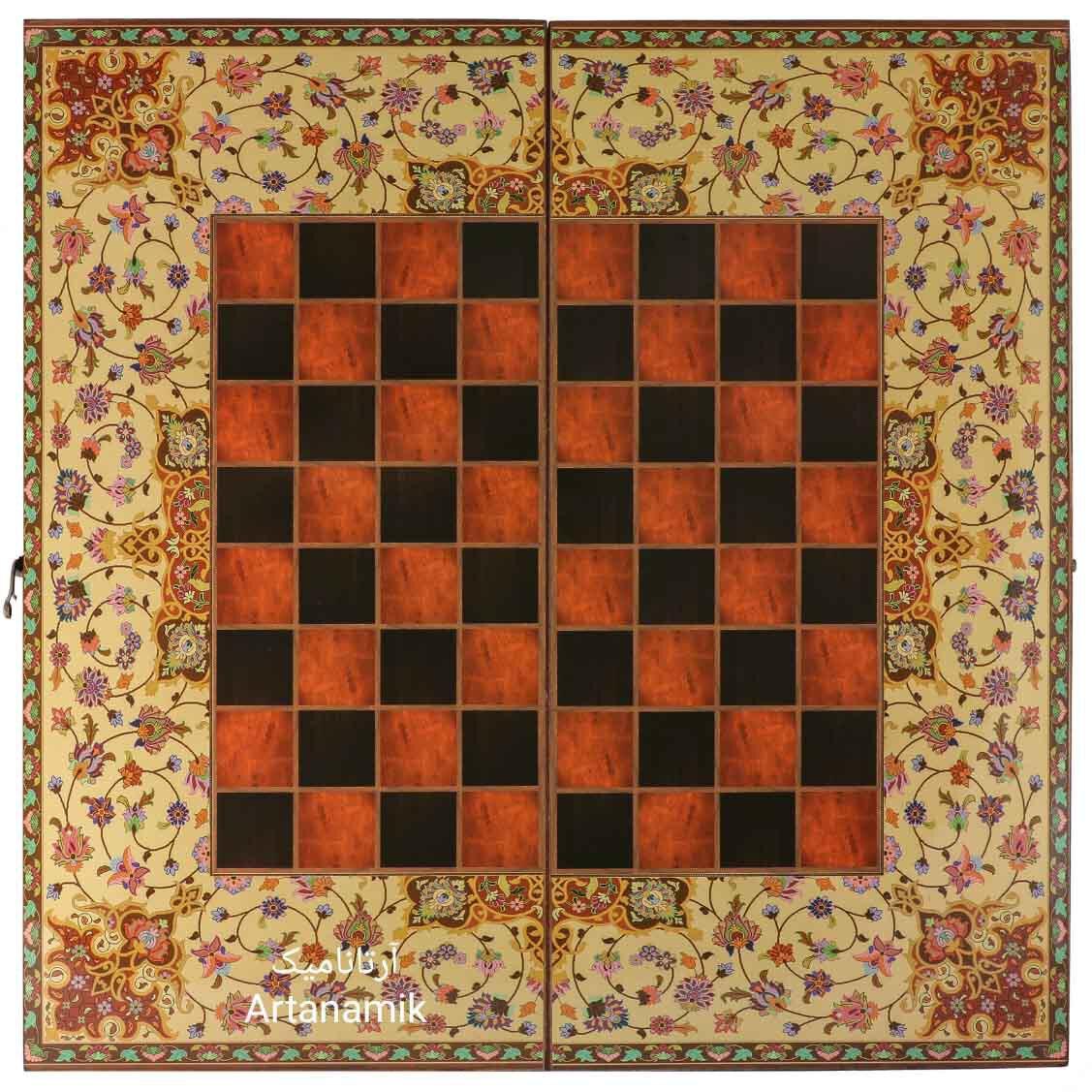 شطرنج کادویی طرح ترنج، شطرنج کادویی، شطرنج نفیس از جنس چوب روس