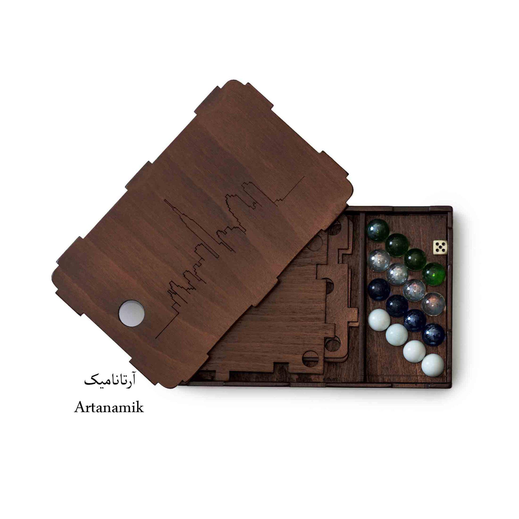 باکس بازی منچ چوبی