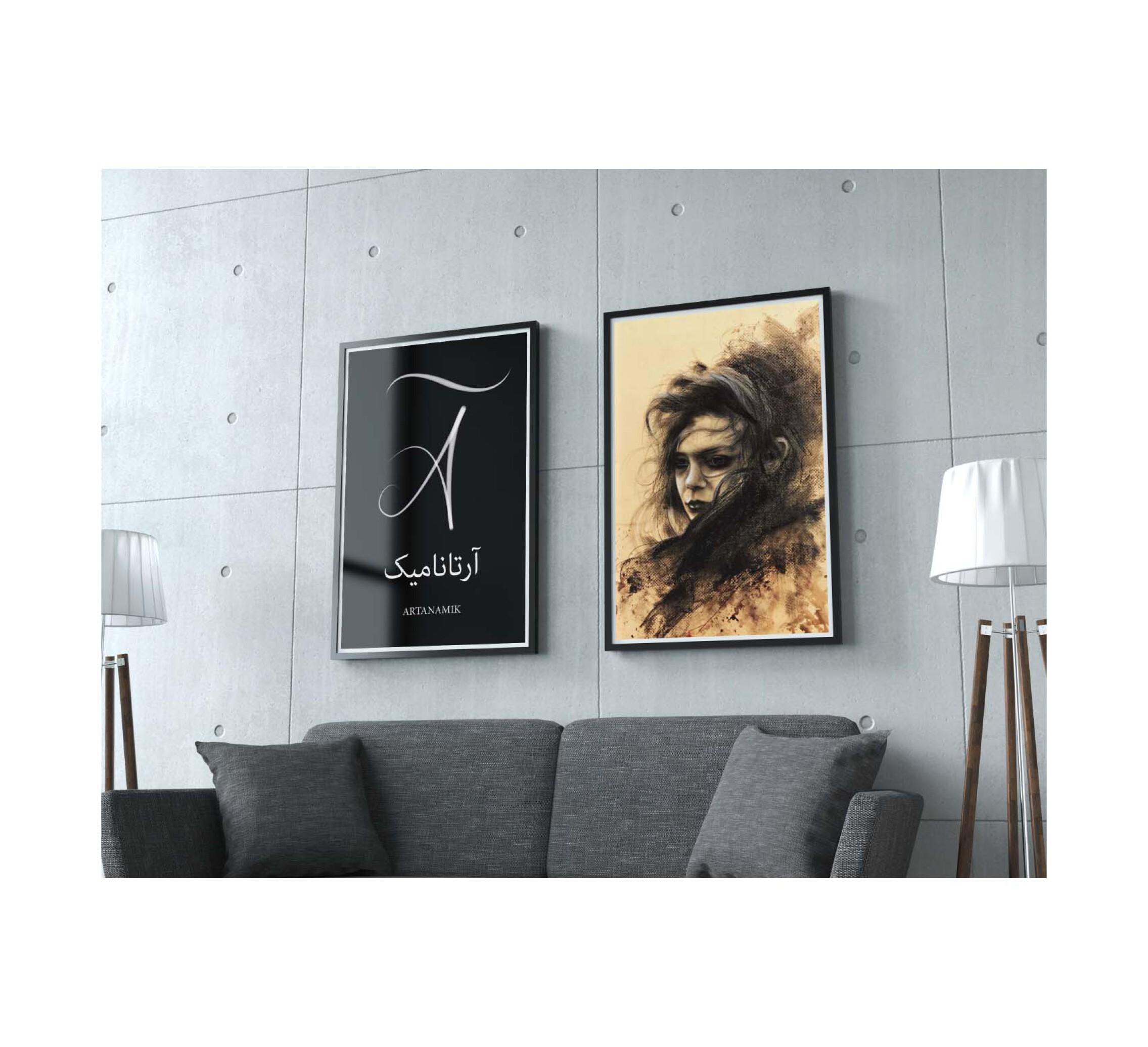 تابلو نقاشی تکنیک سیاه قلم، تابلو نقاشی کادویی، تابلو نقاشی دکوری
