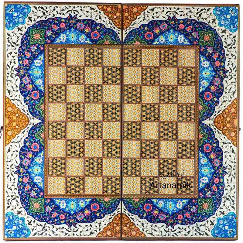 شطرنج کادویی طرح خاتم صدفی، تخته نرد کادویی و تخته نرد نفیس از جنس چوب روس