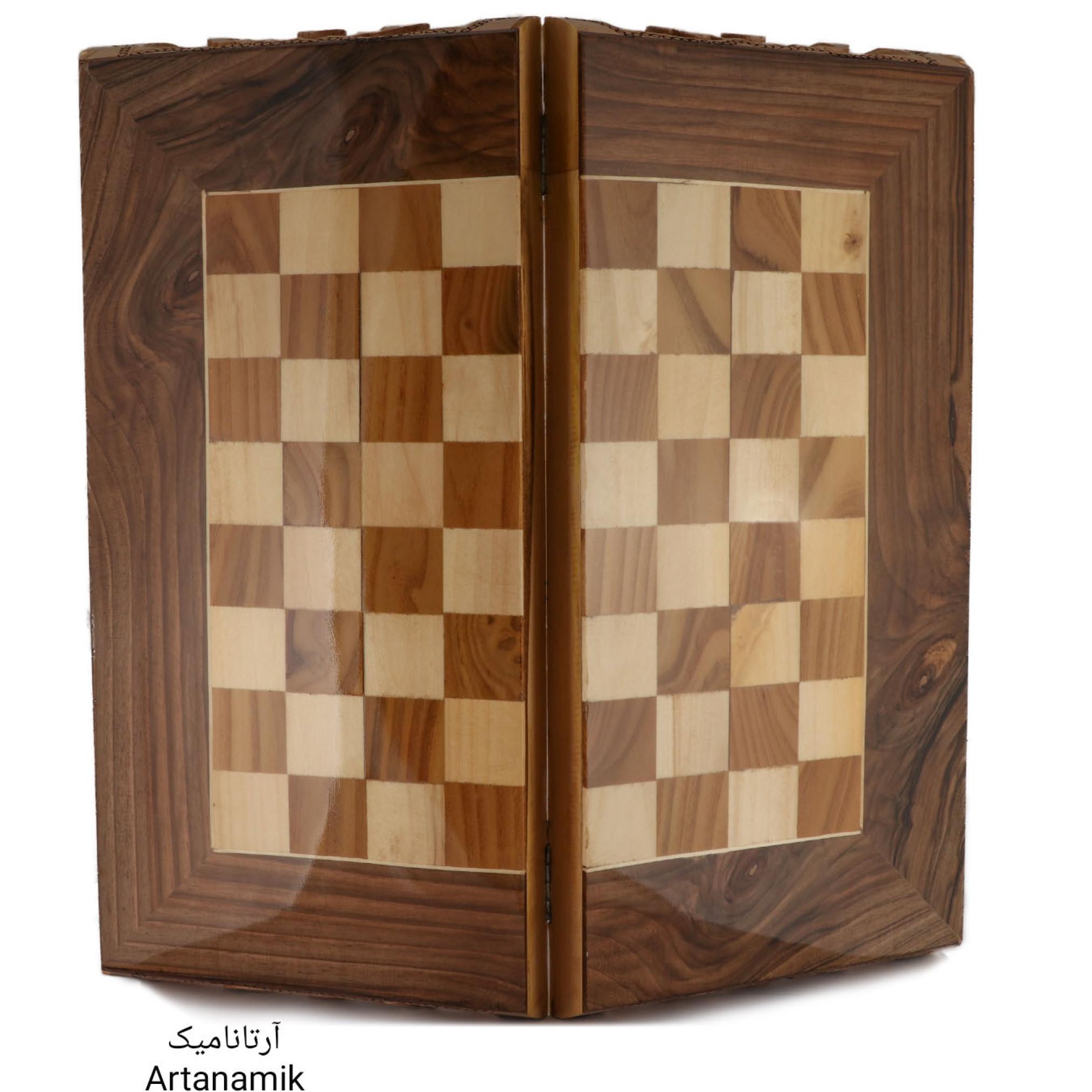 تخته نرد و شطرنج منبت کاری شده، تخته نرد کادویی و تخته نرد نفیس، ساخته شده از چوب گردو