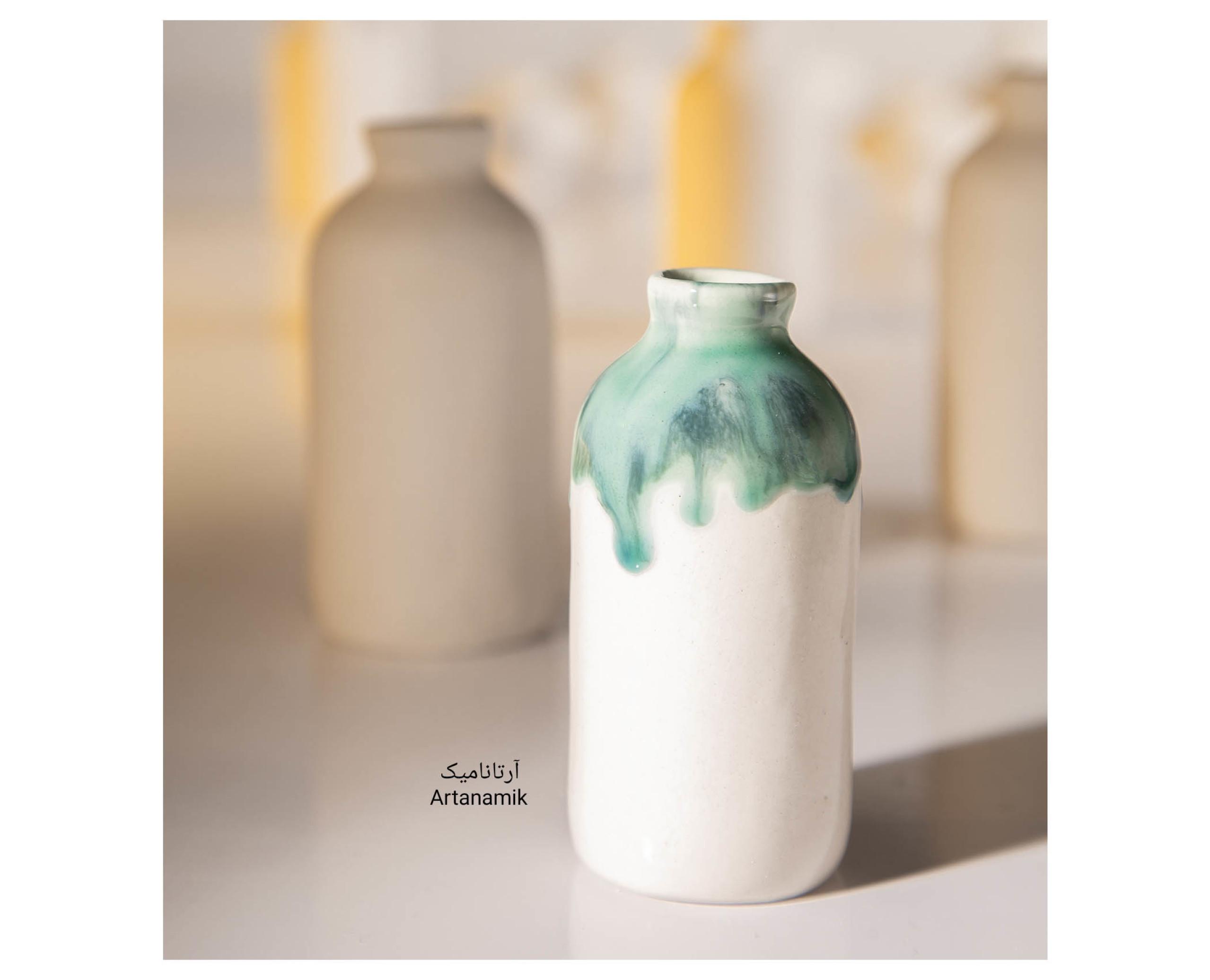 گلدان سرامیکی-بطری، گلدان کادویی و گلدان دکوری