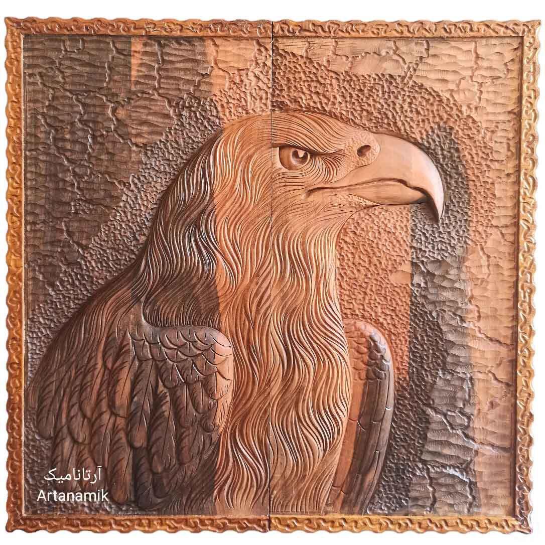 تخته نرد منبت کاری طرح عقاب - نگاه، تخته نرد کادویی و تخته نرد نفیس روی چوب گردو