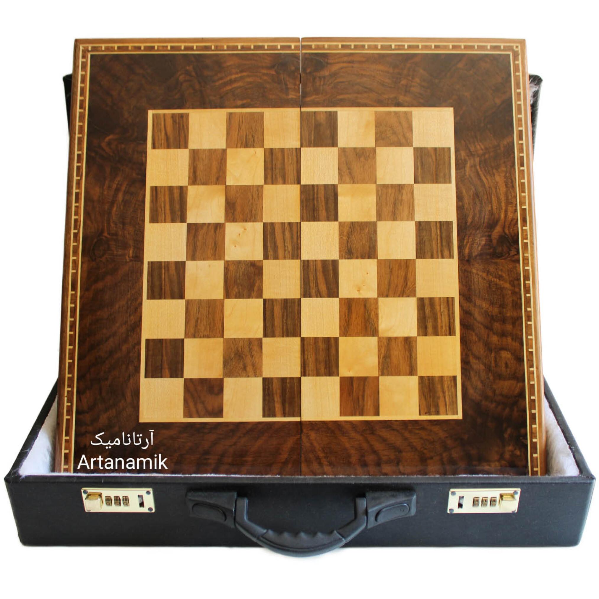 تخته نرد و شطرنج کادویی، تخته نرد کادویی و تخته نرد نفیس روی چوب گردو