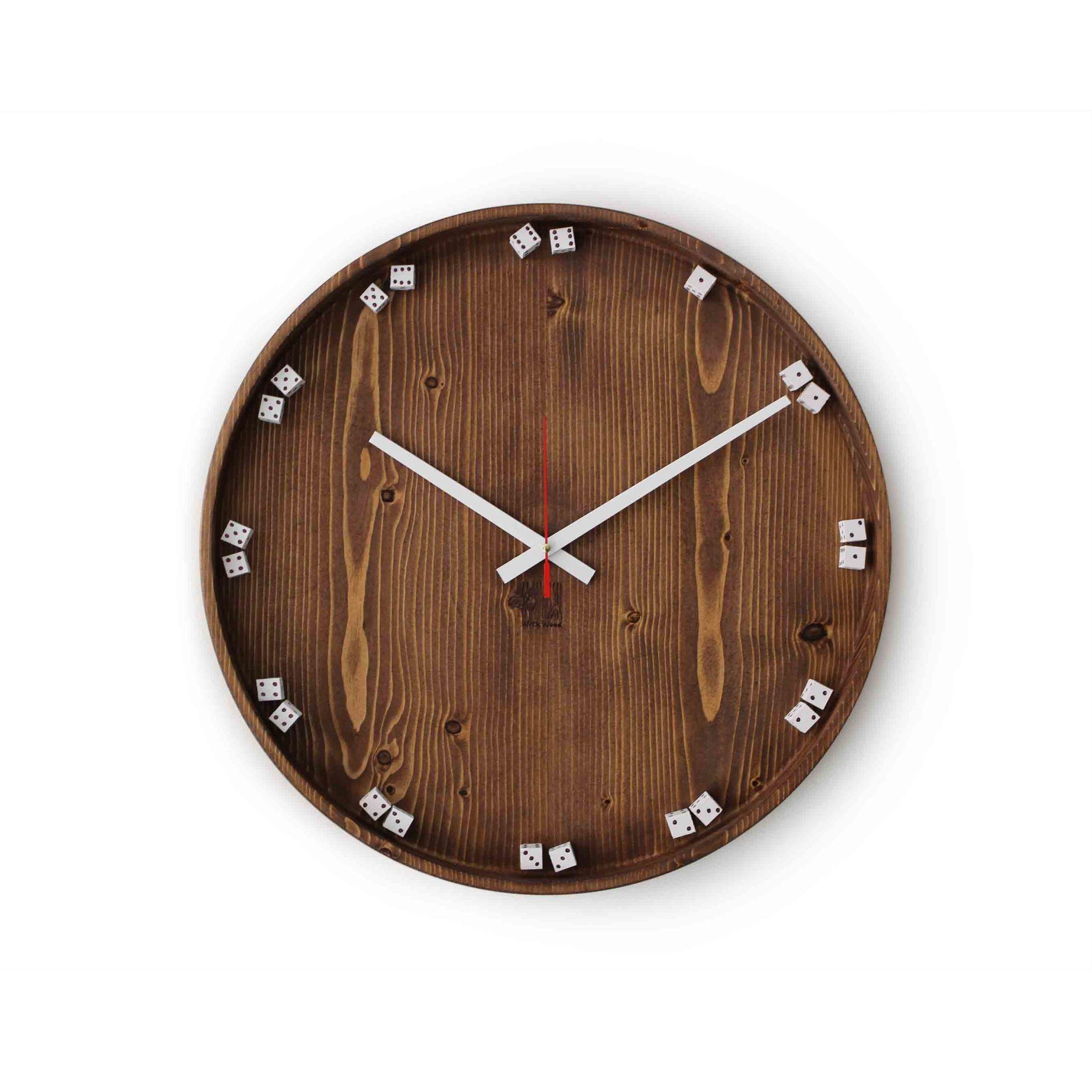 ساعت تمام چوب روس مدل تاس
