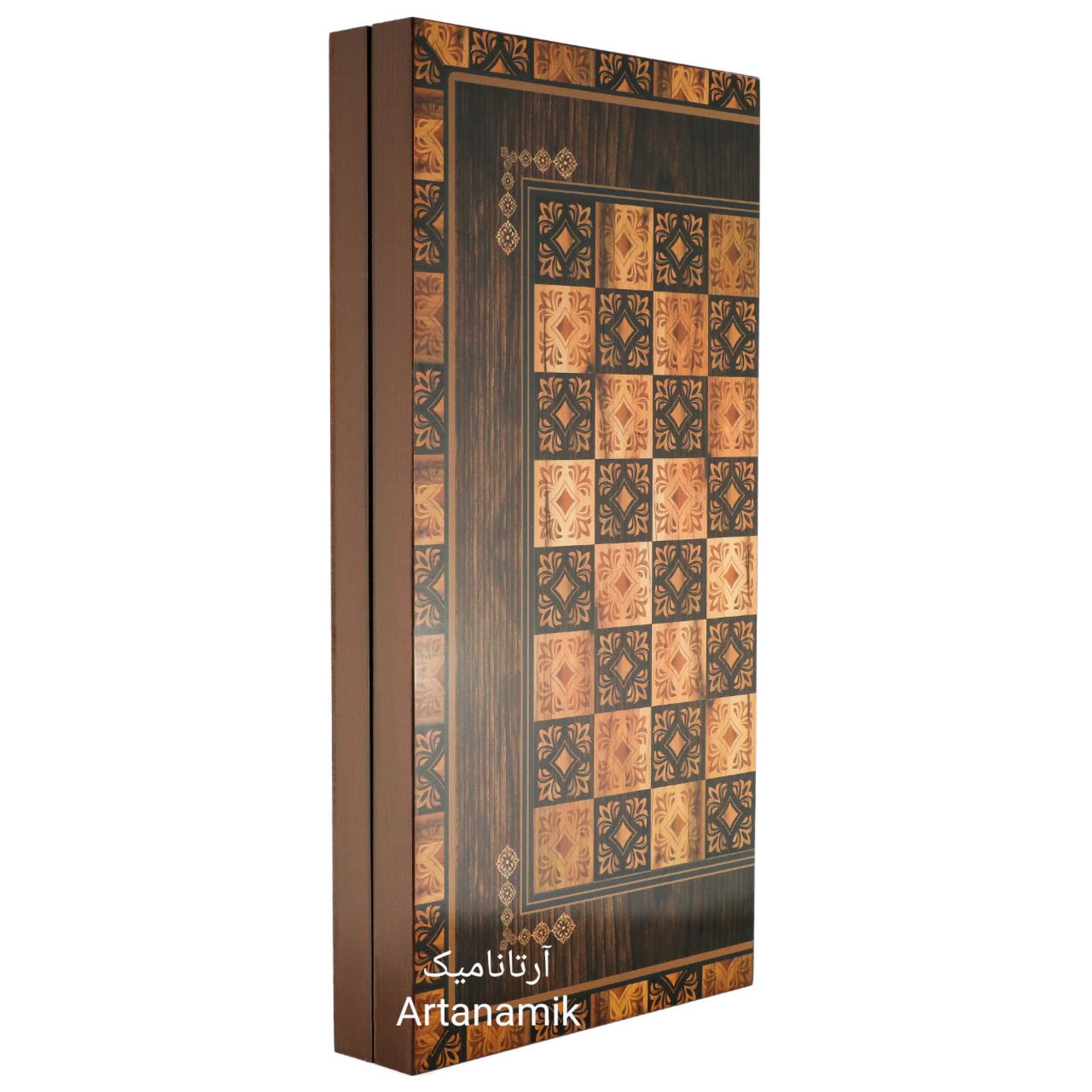 خرید تخته نرد و شطرنج طرح پارسی، تخته نرد کادویی و تخته نرد نفیس از جنس MDF