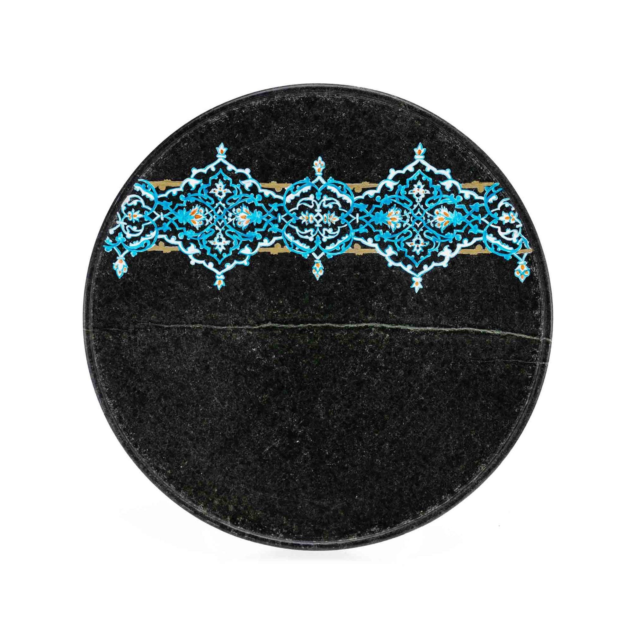 بشقاب پذیرایی سنگی (شیرینی و آجیل) ساخته شده از سنگ سرپانتین