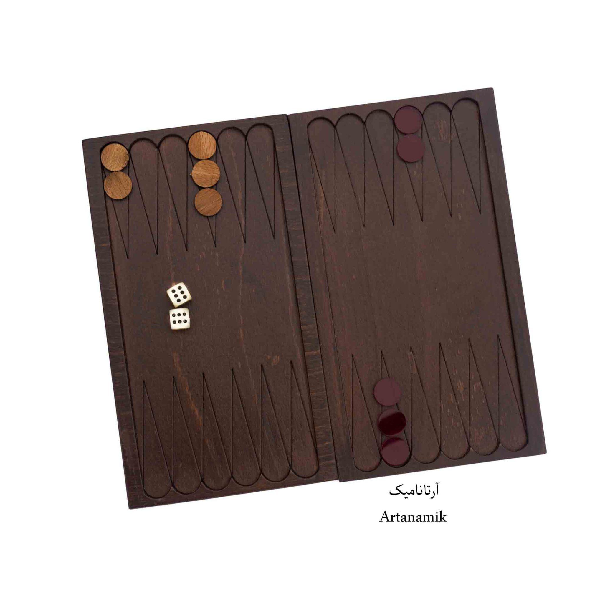 تخته نرد کادویی چوبی با روکش سه میل راش طبیعی