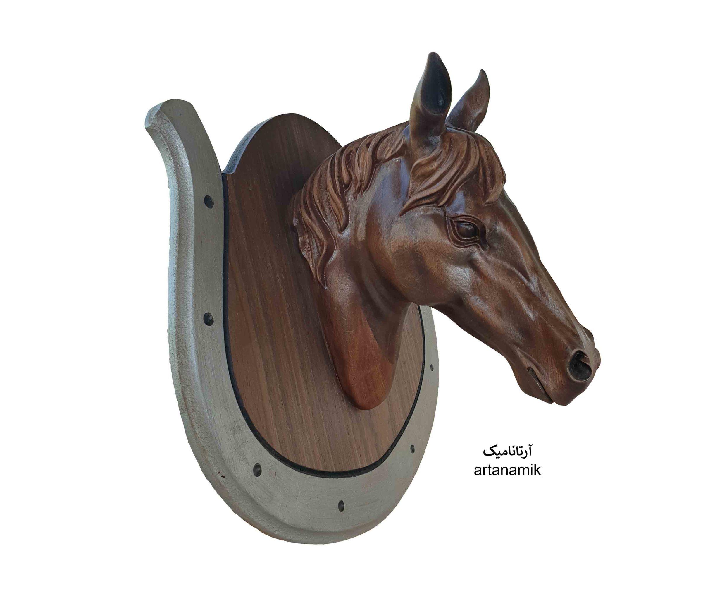 مجسمه سردیس اسب با استفاده از چوب سوپر راش گرجستان