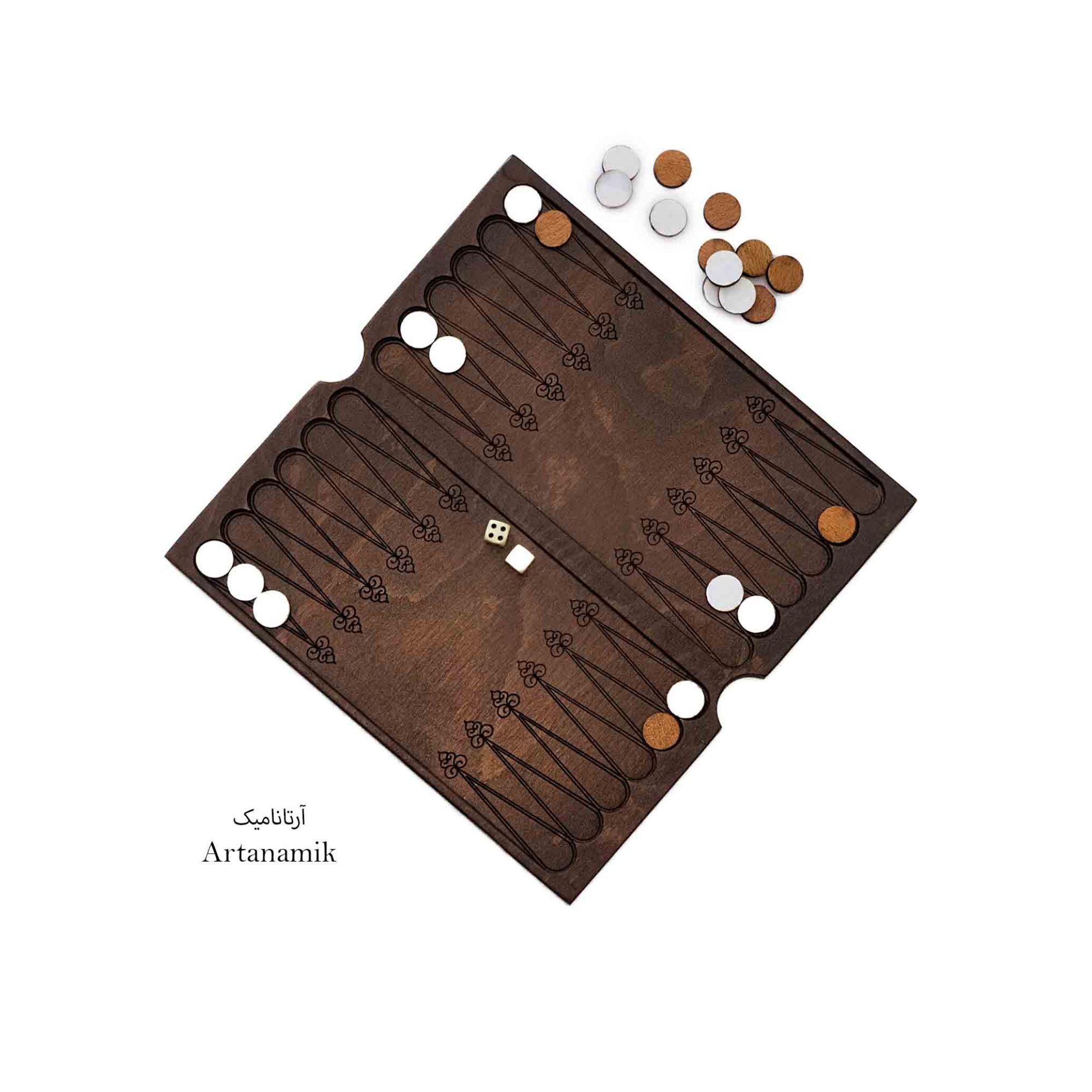 تخته نرد کادویی چوبی
