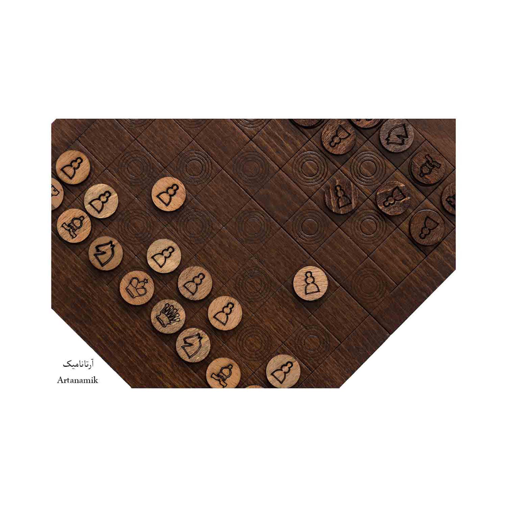شطرنج کادویی چوبی با روکش سه میل راش طبیعی