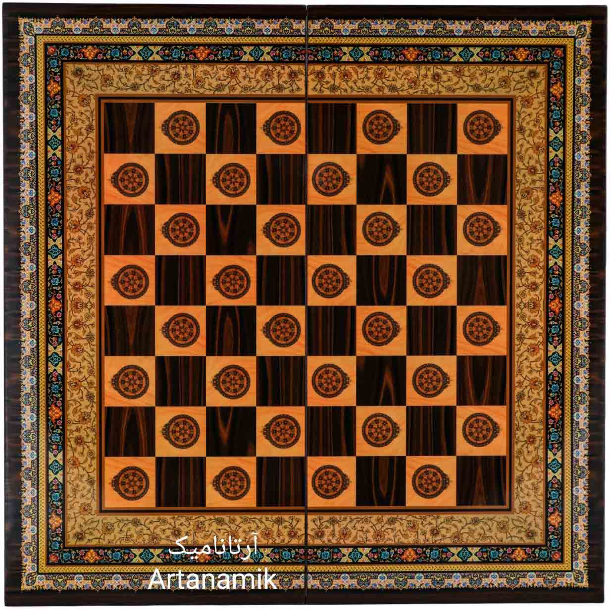 شطرنج طرح تذهیب، تخته نرد کادویی و تخته نرد نفیس از جنس MDF