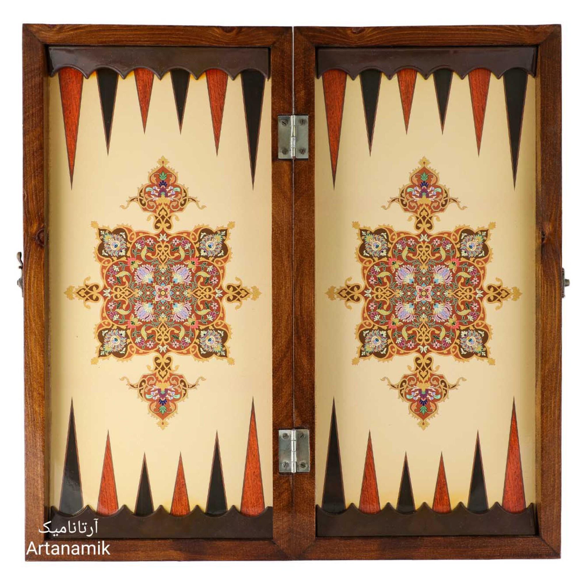 خرید تخته نرد و کادویی طرح فرش، تخته نرد کادویی و تخته نرد نفیس از جنس چوب روس