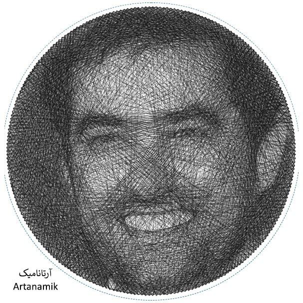 خرید تابلو نخی چهره و تصویر دلخواه، تابلو نخی کادویی، تابلو دکوری